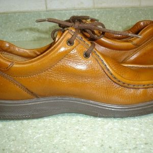 MEN'S DEXTER OXFORD SHOES-SIZE 8M-BROWN